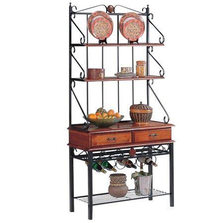 walmart bakers rack coaster oak bakers rack with 2 drawers walmart