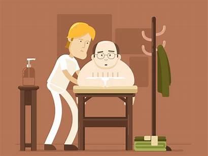 Massage Animated Gifs Seinfeld George Dribbble Fan