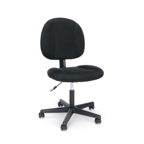 essentials swivel upholstered armless office chair in