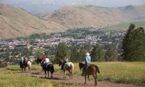 jackson riding hole horseback wyoming king summer horse snow trail rides