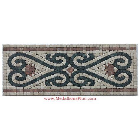 "Reese, Honed Mosaic Tile Listello 625""x1575"