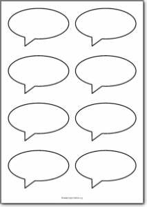 8 Blank speech bubbles Free Printables, free printable