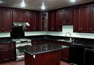 Black Granite Countertops With Dark Cabinets