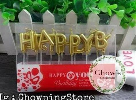 jual promo murah lilin tulisan happy birthday lilin