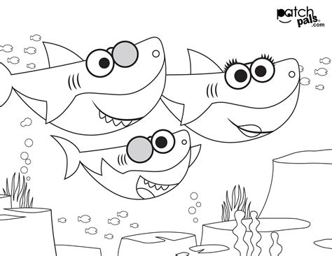 Best 21 Baby Shark Coloring Home Family Style and Art