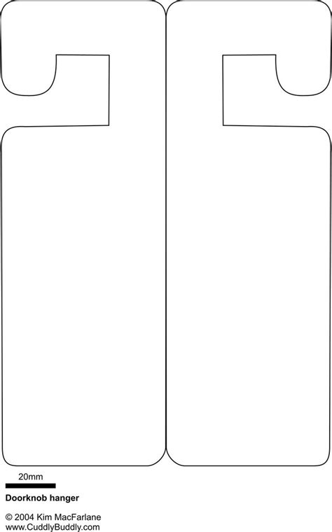 door sign template doorknob hanger template something to occupy the on boring rainy summer days