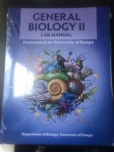 University Of Tampa General Biology 2 Lab Manual 2020