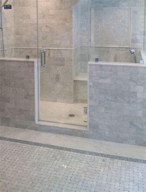 herringbone tile floor kitchen contemporary herringbone mosaic tile spaces modern with molding trim