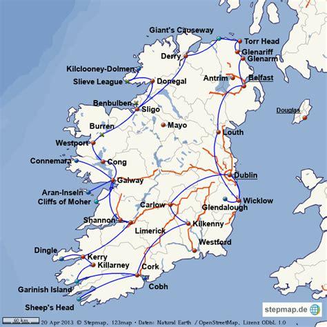 Sehenswürdigkeiten Irland Karte