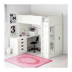 stuva loft bed combo w 4 drawers 2 doors white 207x99x193
