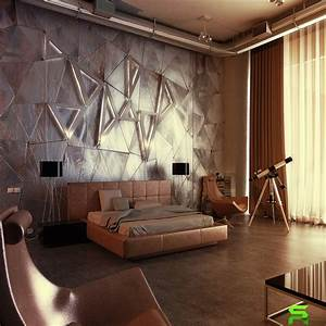 unique wall texturing examples With interior design bedroom feature wall