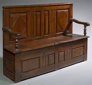 Banc Coffre Bois : banc coffre bois de noyer h 107 5 cm l 168 cm p 41 cm france fin ~ Teatrodelosmanantiales.com Idées de Décoration