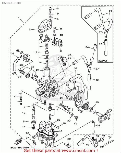 yamaha twc trailway   california carburetor