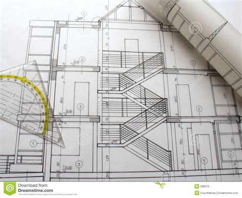 architectual plans architectural plans stock image image of background