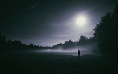 Moon Night Foggy Wallpapers Wide