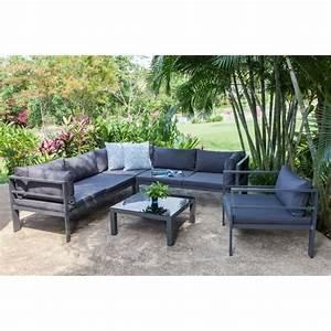 Salon Jardin Angle : salon de jardin mojito 1 canap d 39 angle r versible modulable 1 fauteuil et une table basse en ~ Teatrodelosmanantiales.com Idées de Décoration