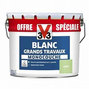 Peinture murs et plafonds v33 satin 10l leroy merlin for Peinture acrylique exterieur leroy merlin 10 peinture v33