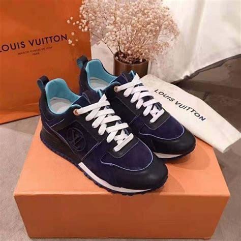 louis vuitton lv women run  sneaker  suede calf leather navy lulux