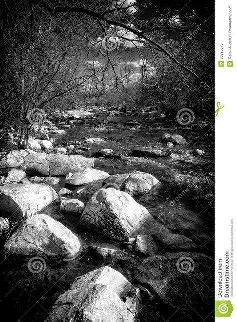 black  white rapids   small stream royalty