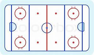 Ice Hockey Field Blue Greetings Card Vector