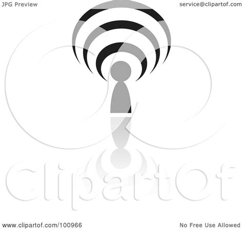 royalty free rf clipart illustration of a black podcast logo icon by cidepix 100966