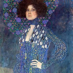 Portrait Of Emilie Floge Detail Painting by Gustav Klimt