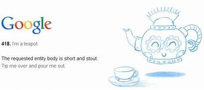 Google Error Easter Teapot 418 Egg Errors