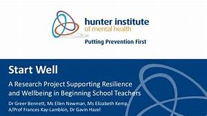 Start Well - A research project supporting resilience and ...