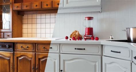 refaire sa cuisine utiliser la peinture carrelage pour repeindre sa cuisine