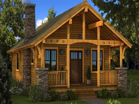 Small Log Cabin Homes Plans One Story Cabin Plans