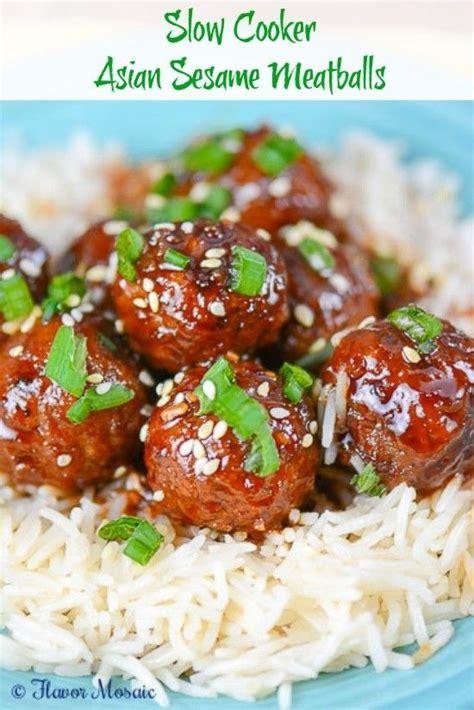 slow cooker asian sesame meatballs recipe frozen