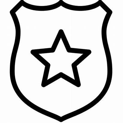 Badge Police Sheriff Icon Clip Coloring Clipart