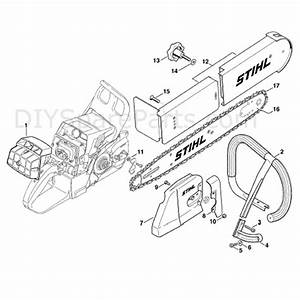 Stihl Ms 440 Chainsaw  Ms440 Magnum  Parts Diagram  Conv