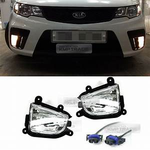 Oem Front Bumper Fog Light Lamp   Wiring For Kia 2010