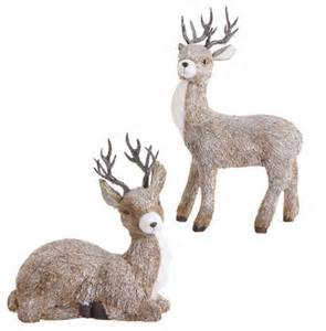 deer set of 2 eclectic outdoor decorations atlanta by iron accents