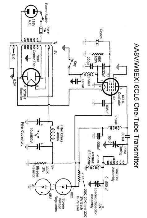 The Aav Wexi One Tube Transmitter Schematic