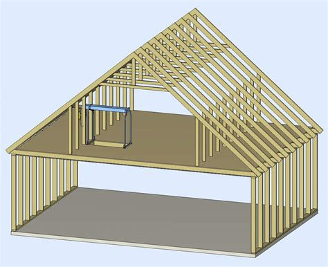 cut  rafter birdsmouth build roof trusses  shed