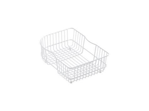 kitchen sink baskets white 1 kohler k 6521 0 wire rinse basket white 5648