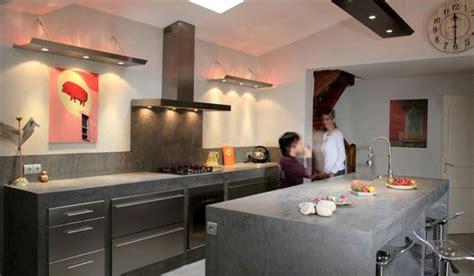 refaire un plan de travail cuisine plan de travail cuisine bton cir ralisation du0027un bton