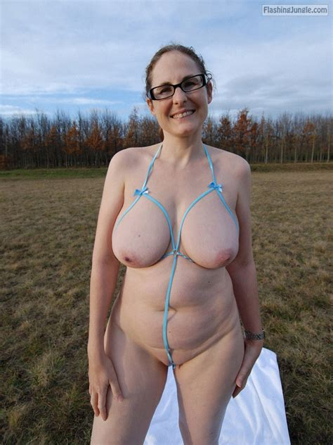 Sunny Day Good Mood And Public Nudity Shots Of Busty Milf