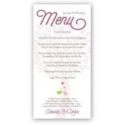 menu original mariage menu mariage original