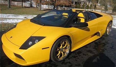 sale yellow  lamborghini murcielago roadster
