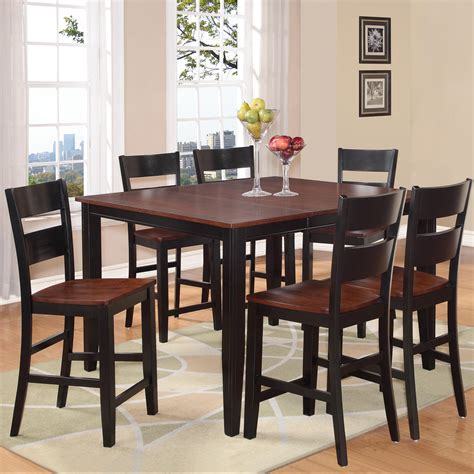 7 piece pub table set holland house 8202 7 piece counter height dining set with