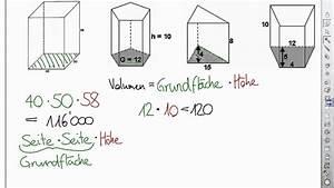 Prisma Berechnen übungen : prismenvolumen berechnen youtube ~ Themetempest.com Abrechnung