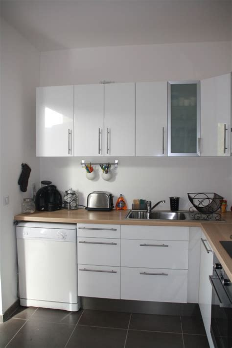 cuisine moderne blanche et bois cuisine blanche bois et inox photo 3 6 3509191