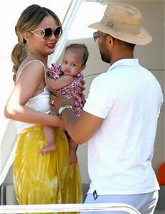 John Legend and family on a yacht off St. Tropez ...
