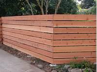 horizontal wood fence Wood Fence