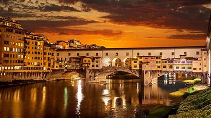 Italy 4k Florence Ponte Vecchio Bridge Arch