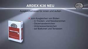 Ardex K 36 : ardex k 36 neu ausgleichsmasse f r innen und au en youtube ~ Frokenaadalensverden.com Haus und Dekorationen