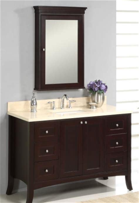 48 Inch Single Sink Modern Bathroom Vanity with Dark Brown